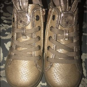 Other - Gold bunny sneakers